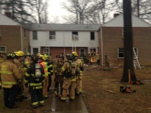 A fire damaged this non-occupied student residence on Jan. 16.  (Communications and Public Relations)