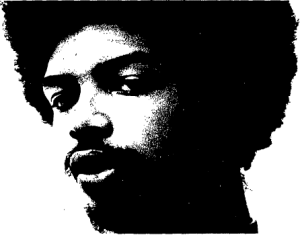 Gil Scott-Heron, as a Lincoln University student, in 1970 (The Lincolnian Archives)