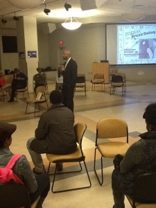 Malcolm Newman addresses students during S.T.A.R.S. speed dating event (provided by Marshayla Kinsel