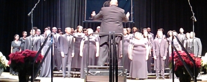 The Lincoln University Concert Choir performs Dec. 5 at the ICC. LATIA TUCKER/FOR THE LINCOLNIAN