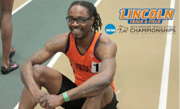 Miles Green at the NCAA Division II 2014 Track &Field Championships. Photo Credit: lulions.com